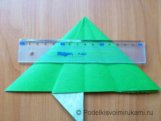 Ёлка оригами из бумаги своими руками. Шаг №12.
