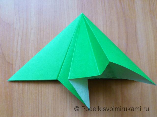 Ёлка оригами из бумаги своими руками. Шаг №13.