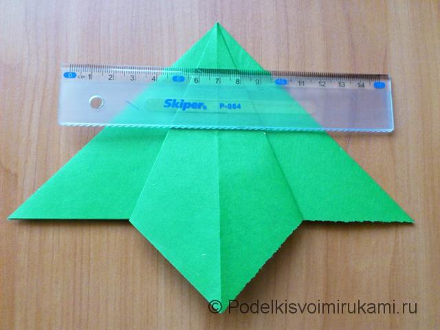 Ёлка оригами из бумаги своими руками. Шаг №14.