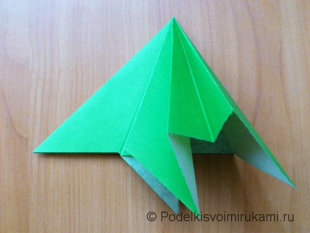 Ёлка оригами из бумаги своими руками. Шаг №16.