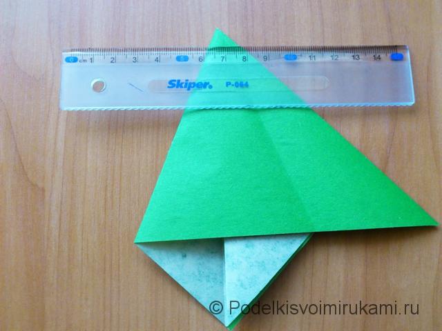 Ёлка оригами из бумаги своими руками. Шаг №18.