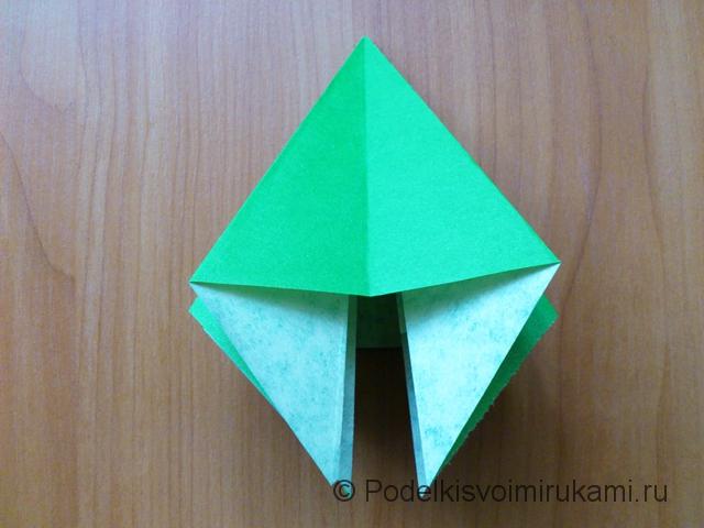 Ёлка оригами из бумаги своими руками. Шаг №21.