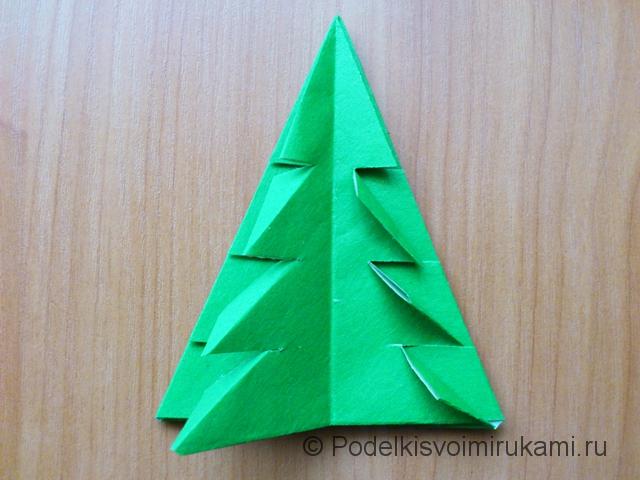 Ёлка оригами из бумаги своими руками. Шаг №29.