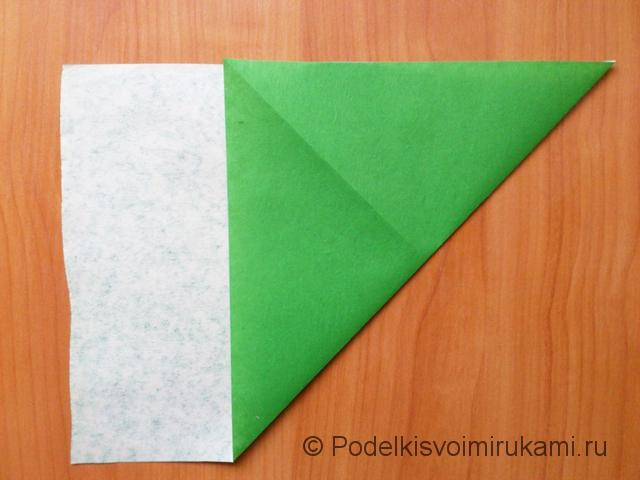 Ёлка оригами из бумаги своими руками. Шаг №3.