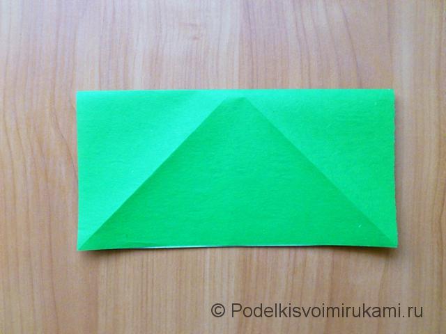 Ёлка оригами из бумаги своими руками. Шаг №5.