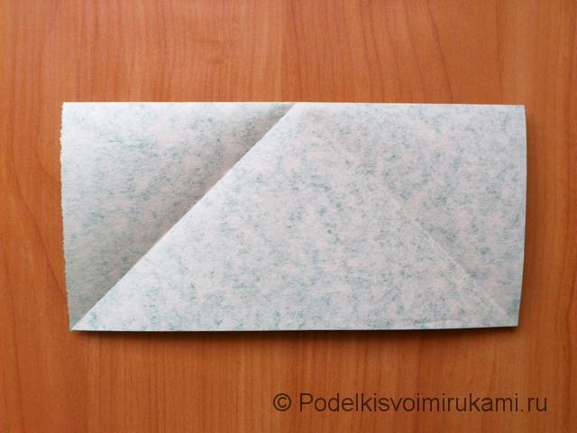 Ёлка оригами из бумаги своими руками. Шаг №6.