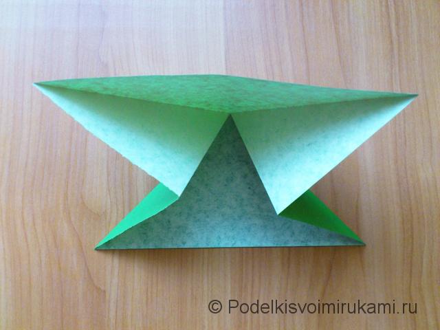 Ёлка оригами из бумаги своими руками. Шаг №7.