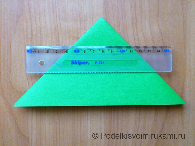 Ёлка оригами из бумаги своими руками. Шаг №8.