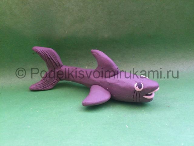 Акула из пластилина. Итоговый вид поделки.