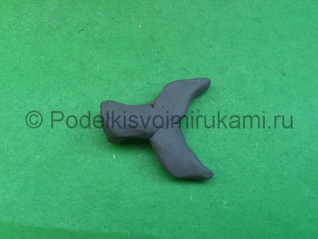 Акула из пластилина. Шаг №5.