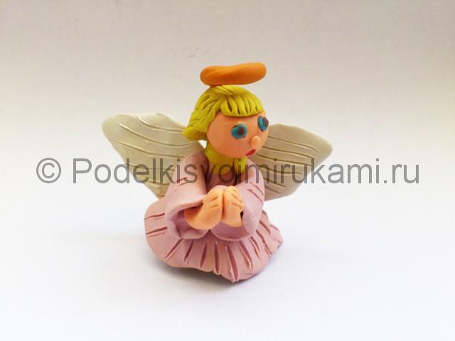 Ангел из пластилина. Итоговый вид поделки.