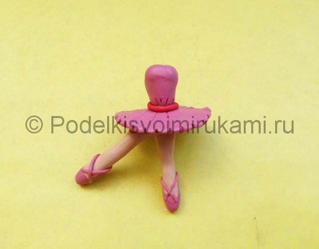 Балерина из пластилина. Шаг №5.