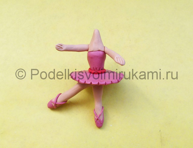 Балерина из пластилина. Шаг №6.