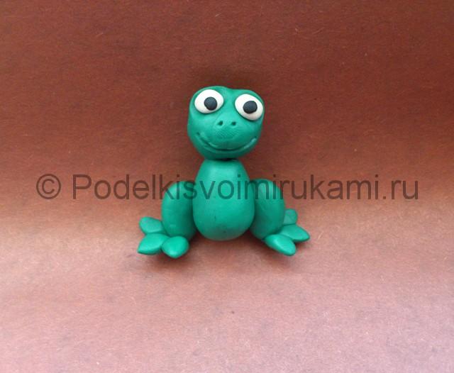 Царевна-лягушка из пластилина. Шаг №7.