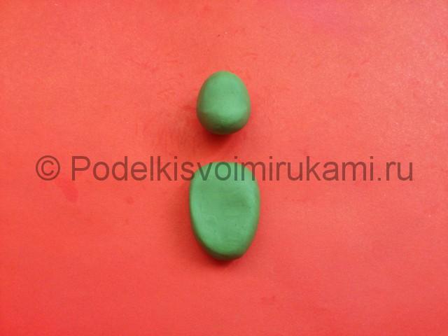 Черепашка-ниндзя из пластилина. Шаг №2.