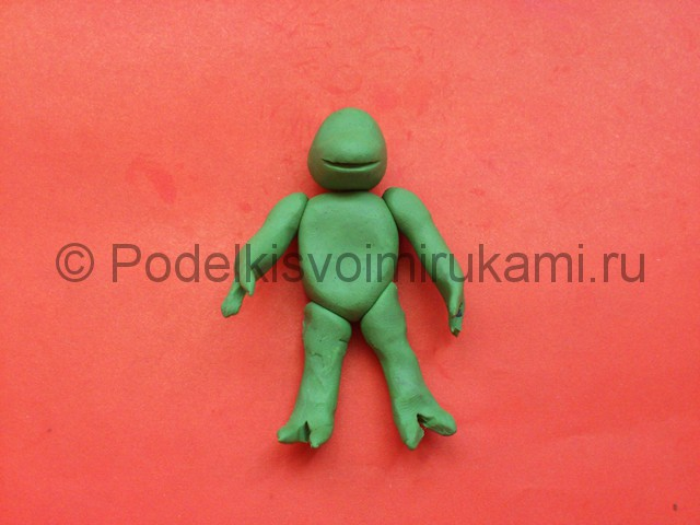 Черепашка-ниндзя из пластилина. Шаг №5.