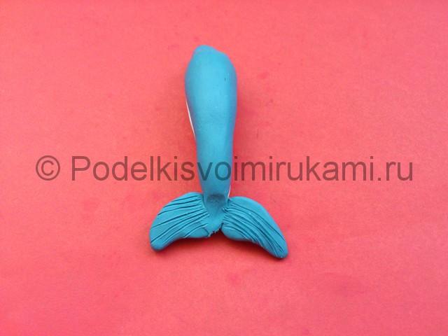 Дельфин из пластилина. Шаг №6.