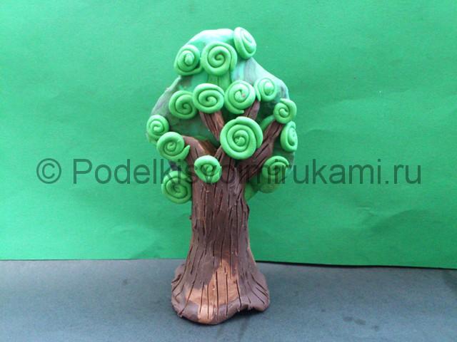 Дерево из пластилина. Шаг №11.