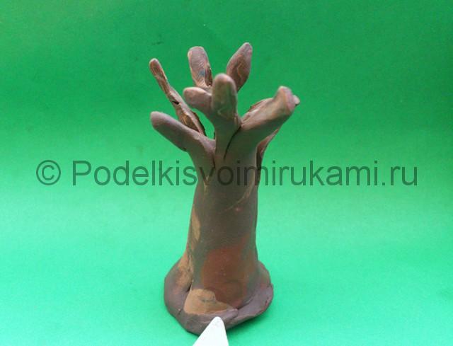 Дерево из пластилина. Шаг №5.