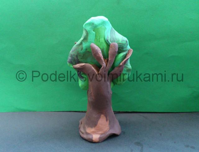 Дерево из пластилина. Шаг №8.