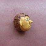 Голова человека из пластилина. Итоговый вид поделки.
