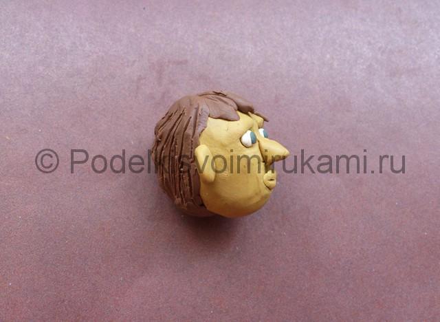 Голова человека из пластилина. Итоговый вид поделки. Фото 1.