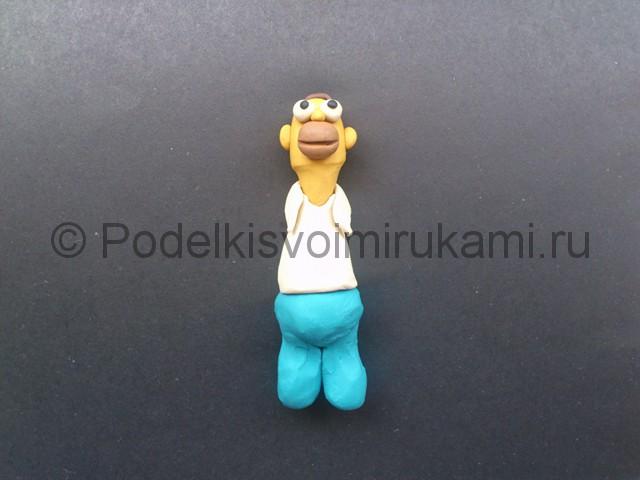 Гомер Симпсон из пластилина. Шаг №8.