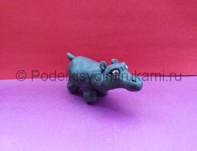 Как слепить бегемота из пластилина. Итоговый вид поделки. Фото 1.