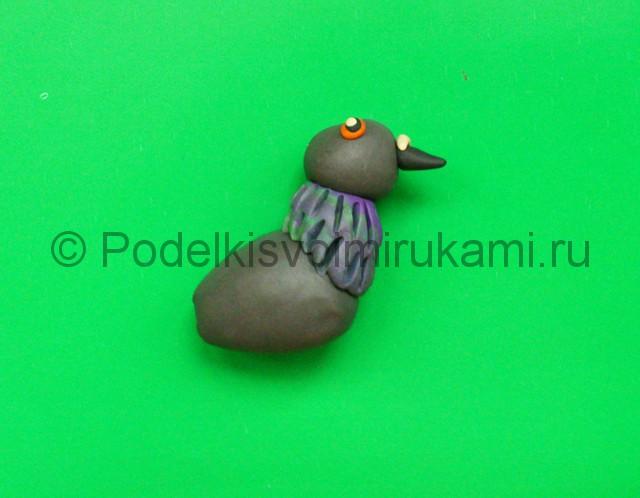 Лепка голубя из пластилина. Шаг №5.