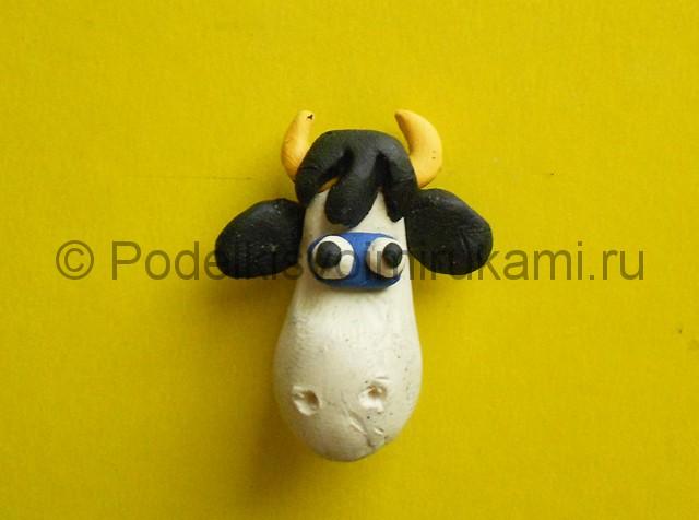 Как слепить корову из пластилина. Шаг №5.