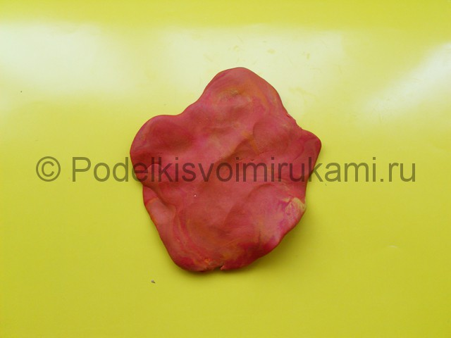 Лепка листьев из пластилина. Шаг №8.