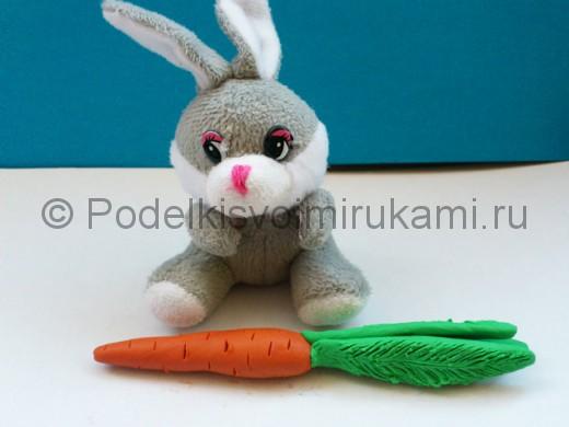 Как слепить морковку из пластилина. Итоговый вид поделки.