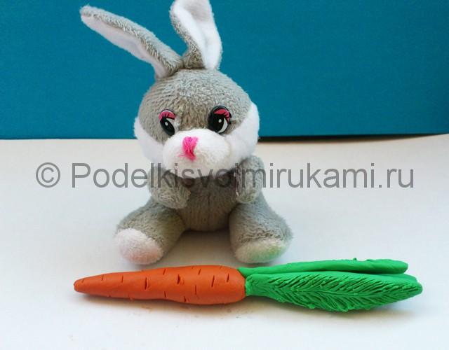 Как слепить морковку из пластилина. Итоговый вид поделки. Фото 2.