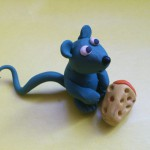 Как слепить мышку из пластилина. Итоговый вид поделки.