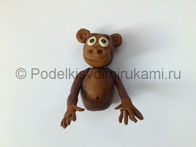 Как слепить обезьяну из пластилина. Шаг №9.