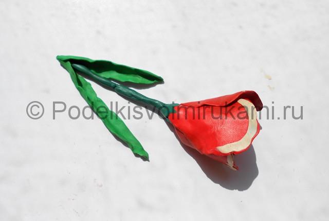 Как слепить тюльпан из пластилина. Шаг №10. Фото 10.1.