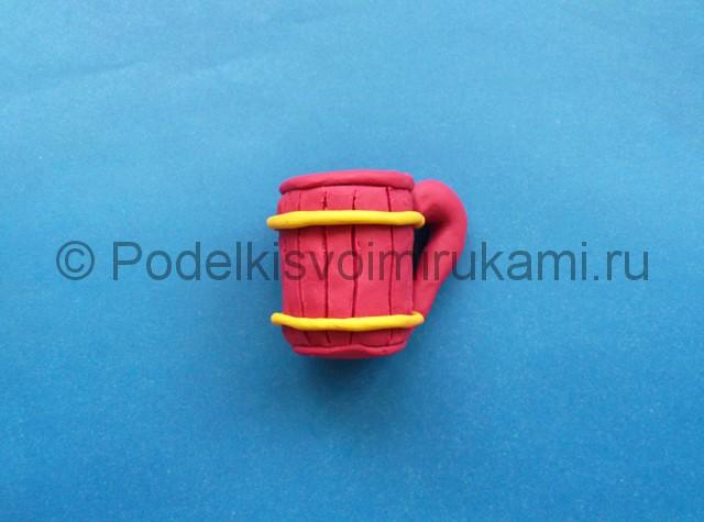Кружка из пластилина. Итоговый вид поделки. Фото 1.