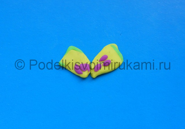 Лепка бабочки из пластилина. Шаг №5.