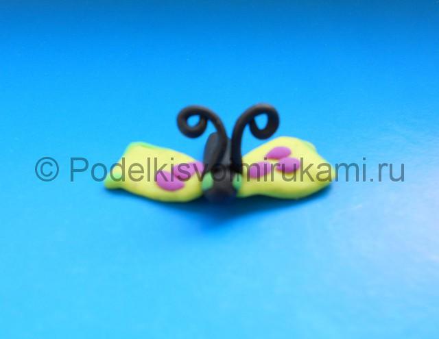 Лепка бабочки из пластилина. Шаг №6. Фото 6.2.