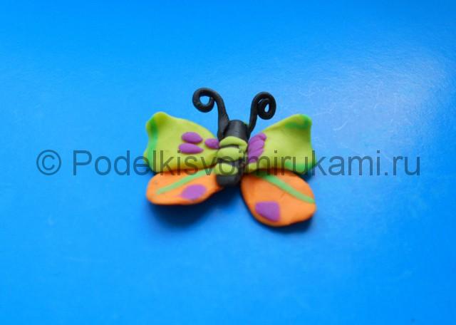 Лепка бабочки из пластилина. Шаг №9. Фото 9.2.