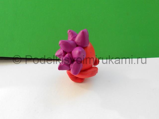 """Лепка ежа из пластилина (м/ф """"Смешарики""""). Шаг №5. Фото 5.3."""