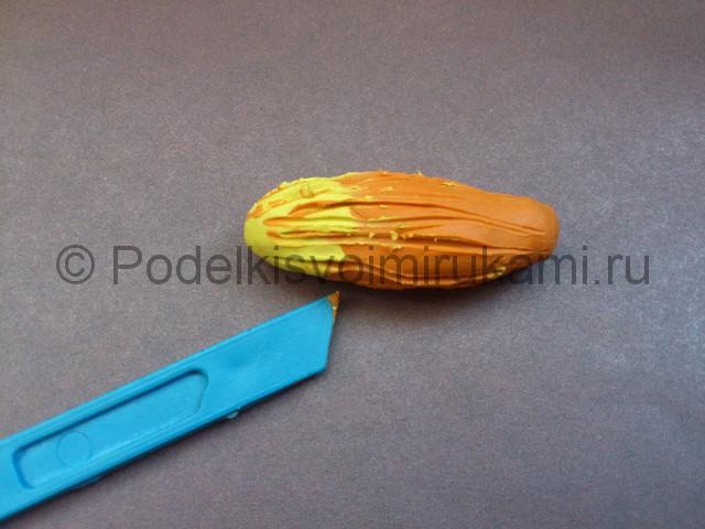 Лиса из пластилина. Мастер-класс с пошаговыми фото. Шаг №9.
