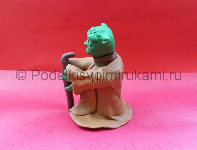 Мастер Йода из пластилина. Итоговый вид поделки. Фото 2.