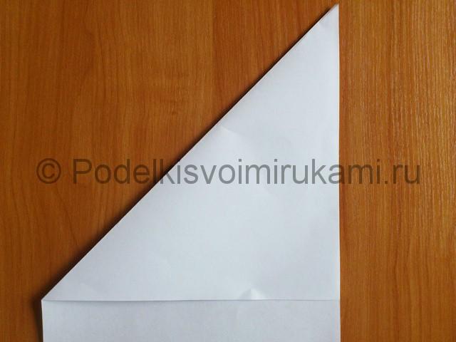 Объемная белая снежинка из бумаги. Шаг №2.
