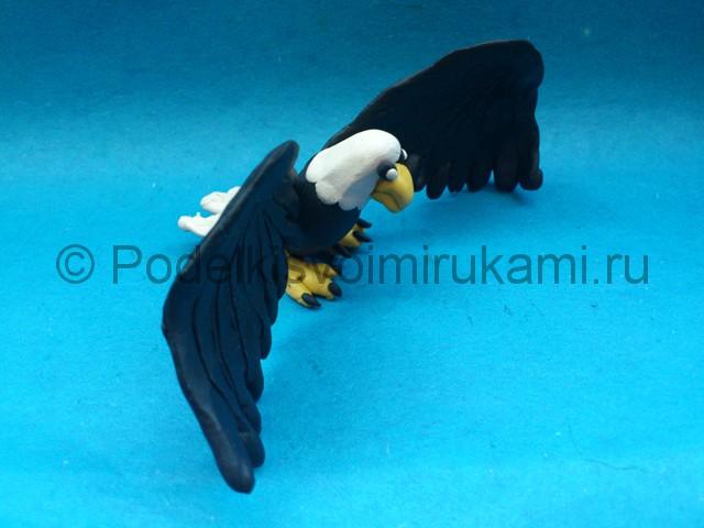 Орёл из пластилина. Итоговый вид поделки. Фото 2.