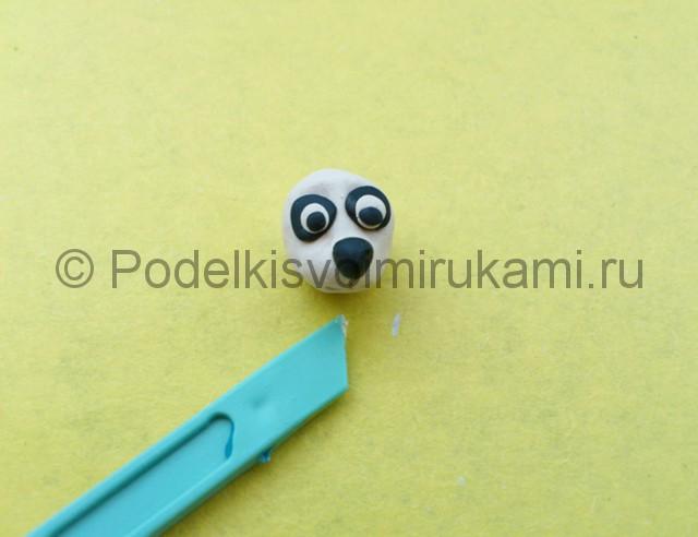 Панда из пластилина. Шаг №4.