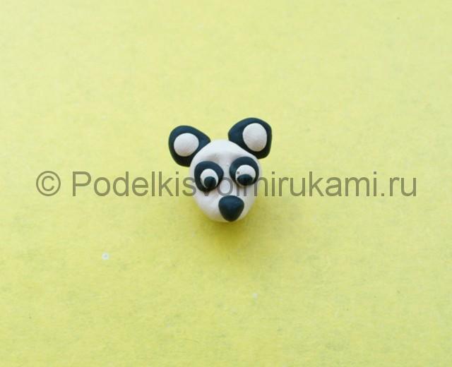 Панда из пластилина. Шаг №5.