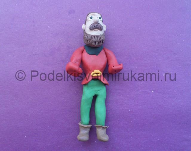 Пират из пластилина. Шаг №12.