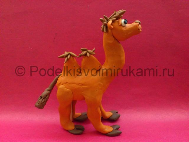 Поделка верблюда из пластилина. Итоговый вид поделки.
