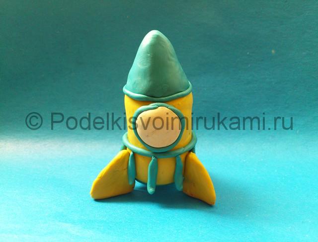 Ракета из пластилина. Шаг №7.